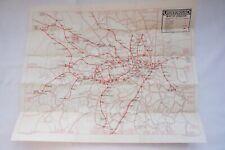 1924 London Underground Railway Tube Map  VGC