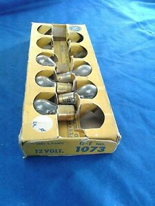 NORS General Electric Light Bulb # 1073 Set of 5 Made in USA