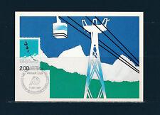 carte 1er jour  congrès des transports a cables  38  Grenoble    1987
