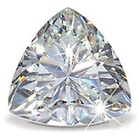 7 MM 1 Carat Near White Trillion Diamond Cut Loose Moissanite For Ring