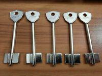 5 X BOD-1G /BODA Schlüsselrohlinge/  Key Blanks