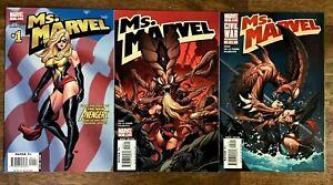 Ms. Marvel #1-3 Marvel Comics 2006 Cover A NM Reed De La Torre Palmiotto MCU