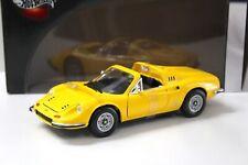 1:18 Hot Wheels Ferrari Dino 246 GTS yellow
