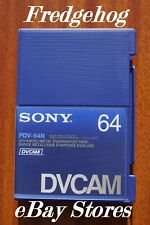 SONY PDV-64 FULL SIZE DV CAM DIGITAL CAMCORDER TAPE / CASSETTE - PRO QUALITY