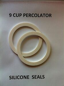 COFFEE PERCOLATOR 1X WHITE OR RED SILICONE RUBBER SEAL 9 CUP POT SIZE 81 MMX64MM
