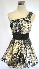 NWT SPEECHLESS Ivory / Black Dance Party Day Dress 11