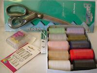 Sewing Machine Starter Pack inc Threads Scissors Tape Measure Repair Kit Pins