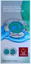 """Flyer Folder 25 EURO NIOB Österreich 2014 """"Evolution"""" - keine Münze"""
