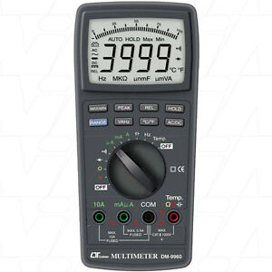 LUTRON AUTORANGE DIGITAL MULTIMETER DM9960 DCV, ACV, DCA, ACA, Resistance, Capac