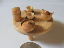 Japanese Wooden Miniature Tea Time With A Table -NEW-