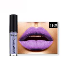 Long Lasting  Lady Waterproof Matte Liquid Lipstick  Lip Gloss Lipstick Purpple