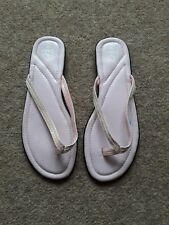 Ladies Shoe Zone Pink Sequin Thong Flip Flop Size 3 Worn Once