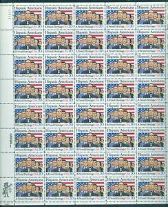 US 2103 Hispanic Americans, Sheet/40, Full Margin @ $.20, Mint NH, Free Shipping