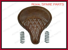 Royal Enfield 500cc Standard Leather Brown Color Seat With Spring
