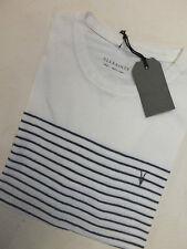 AllSaints Striped Short Sleeve Basic T-Shirts for Men