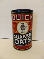Vintage 1990 Quaker Oats Tin Metal Can Canister Advertising - Limited Edition