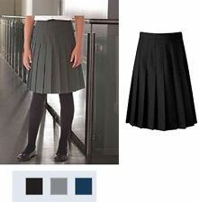 New Ladies All Round Knife Pleated girles School Skirt black navy gray size8-20