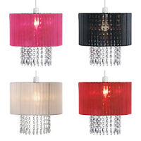 Modern Fabric Cotton Ceiling Pendant Chandelier Light Drum Lamp Shade Lampshades