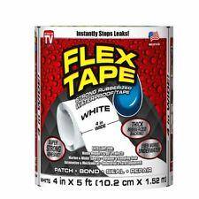 Flex Seal Tape Strong Rubberized Waterproof 4 Inches X 5 Feet White