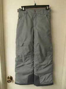 Columbia Gray Bugaboo Omni-Heat Insulated Ski Pants Youth Size Medium