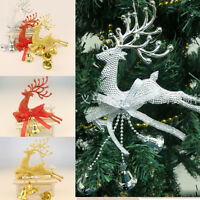 Cute Leaping DEER Reindeer Christmas Tree Decor Hot Xmas Baubles Party Ornament