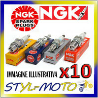 KIT 10 x CANDELE D'ACCENSIONE NGK SPARK PLUG DCPR9EIX STOCK NUMBER 2316