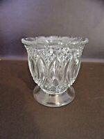 Vintage Pressed Glass Clear Glass Spooner