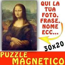 Puzzle Magnetico formato A4 20x30 personalizzato con foto Magnete - calamita art
