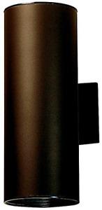 "Kichler 9246AZ Outdoor Cylinder Wall Mount Sconce UpLight Downlight, Bronze 6"" W"