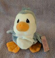 "Enesco Precious Moments Tender Tails PENGUIN Bird Plush Stuffed Animal 7"" Tall"