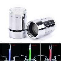 LED Faucet Light Temperature Sensor RGB Glow Water Shower Head Stream Sink TapME