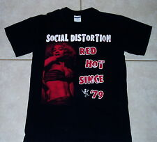 SOCIAL DISTORTION T Shirt (S) Black Mens Small danzig misfits minor threat clash