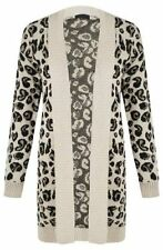 Leopard Coats & Jackets without Fastening for Women
