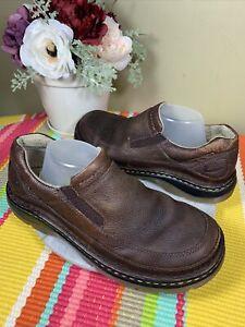 Dr. Martens Brown Leather Slip On Clogs Shoes EU Size 43 US Men's 10 Women's 11