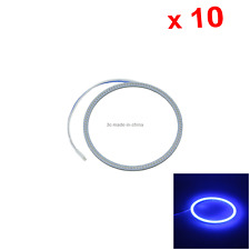 10x Blue Auto Angel Eye Halo Rings Light Signal Blub 95MM 1 Emitters COB LED O09