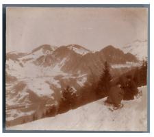 Suisse, Vacance à la montagne  Vintage citrate print Tirage citrate  7x8