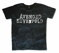 Avenged Sevenfold Nightmare All Over Print Black T Shirt New Official A7X Band