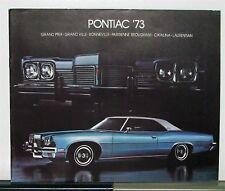 1973 Pontiac Prix Bonneville Parisienne Catalina Laurentian Canadian Brochure