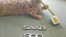 'SAAB' & '900' Badges - original metal badges