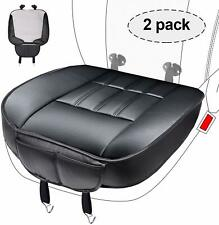 2pcs PU Leather Car Seat Covers Cushion Front Seat Bottom Protector Black