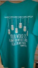 """Girlie Girl Originals T-Shirt """"Your Word Is A Lamp For My Feet """" Medium"""