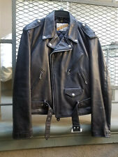 Perfecto Sz 46 Schott Steerhide 118 Vintage Leather Motorcycle Jacket Beautiful