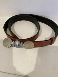 MEN'S ARGENTINA COIN LEATHER BROWN BELTSIZE 32/36