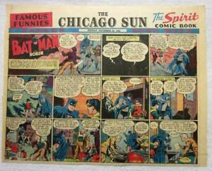 BATMAN AND ROBIN Sunday Comic Page  12/24/44