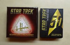 Quantum Mechanix Star Trek 50th Anniversary Magnetic Badge & Challenge Coin Set