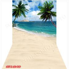 Seaside 10'x20'Computer/Digital Vinyl Scenic Photo Backdrop Background SX240B88