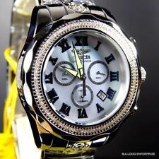 Invicta Grand Pro Diver 107 White Diamonds Platinum MOP 47mm Steel Watch New