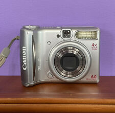 Canon PowerShot A540 Digital Camera 6.0MP With SD Card, Case & Mini USB Cables