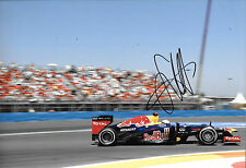 Sebastian Vettel ha firmato 12x8, F1 RED BULL RB8, Grand Prix europei, 2012