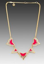 Juicy Couture Angular Spike Necklace Pink NWT